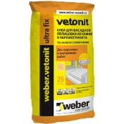Клей для фасадной облицовки weber.vetonit ultra fix 25 кг